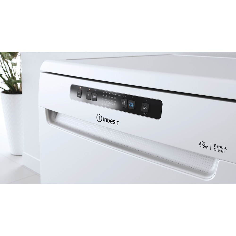 Indesit Mašina za pranje posuđa Samostojeći DFC 2B+19 AC Samostojeći F Lifestyle control panel