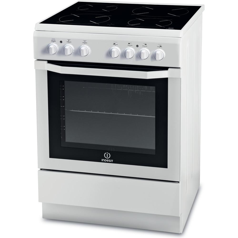Indesit Cuisinière I6VMH2A(W)/GR Blanc Electrique Perspective