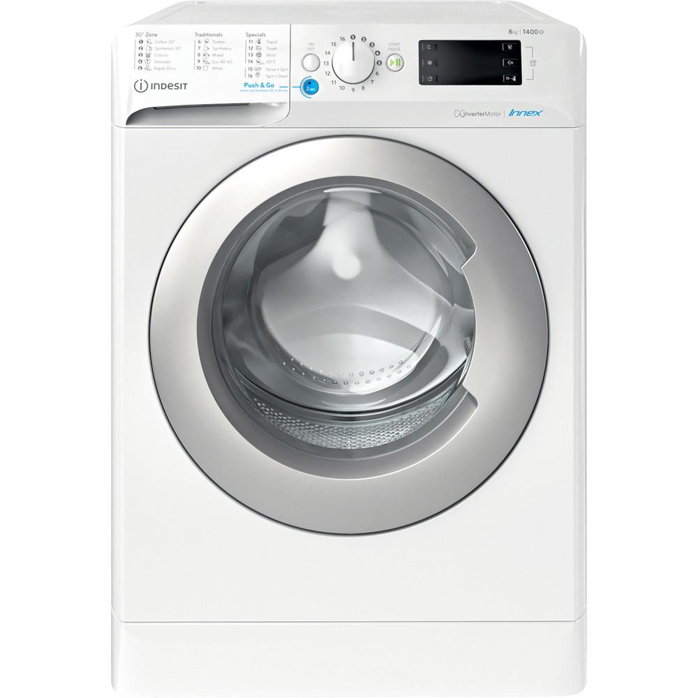 Indesit Tvättmaskin Fristående BWE 81484X WS EE N White Front loader C Frontal