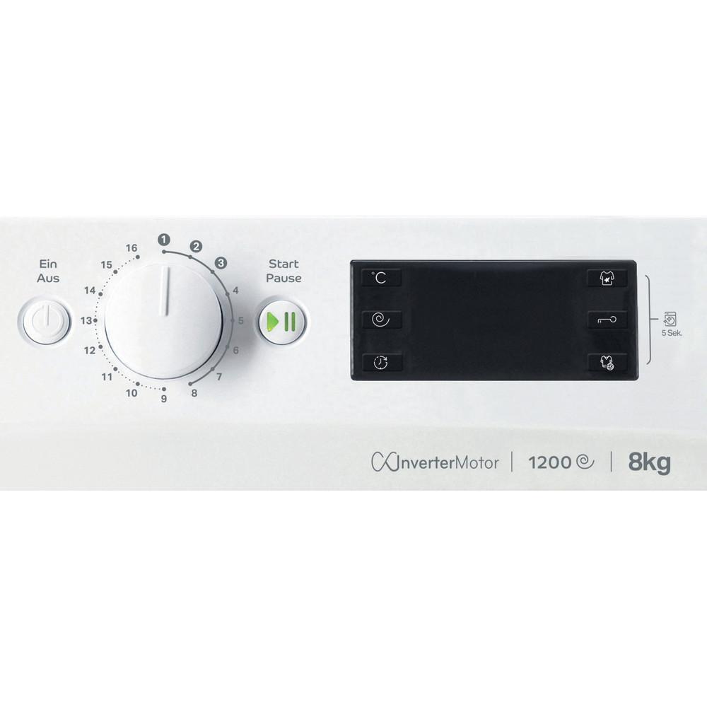 Indesit Waschmaschine Freistehend MTWE 81283E W DE Weiß Frontlader D Control panel