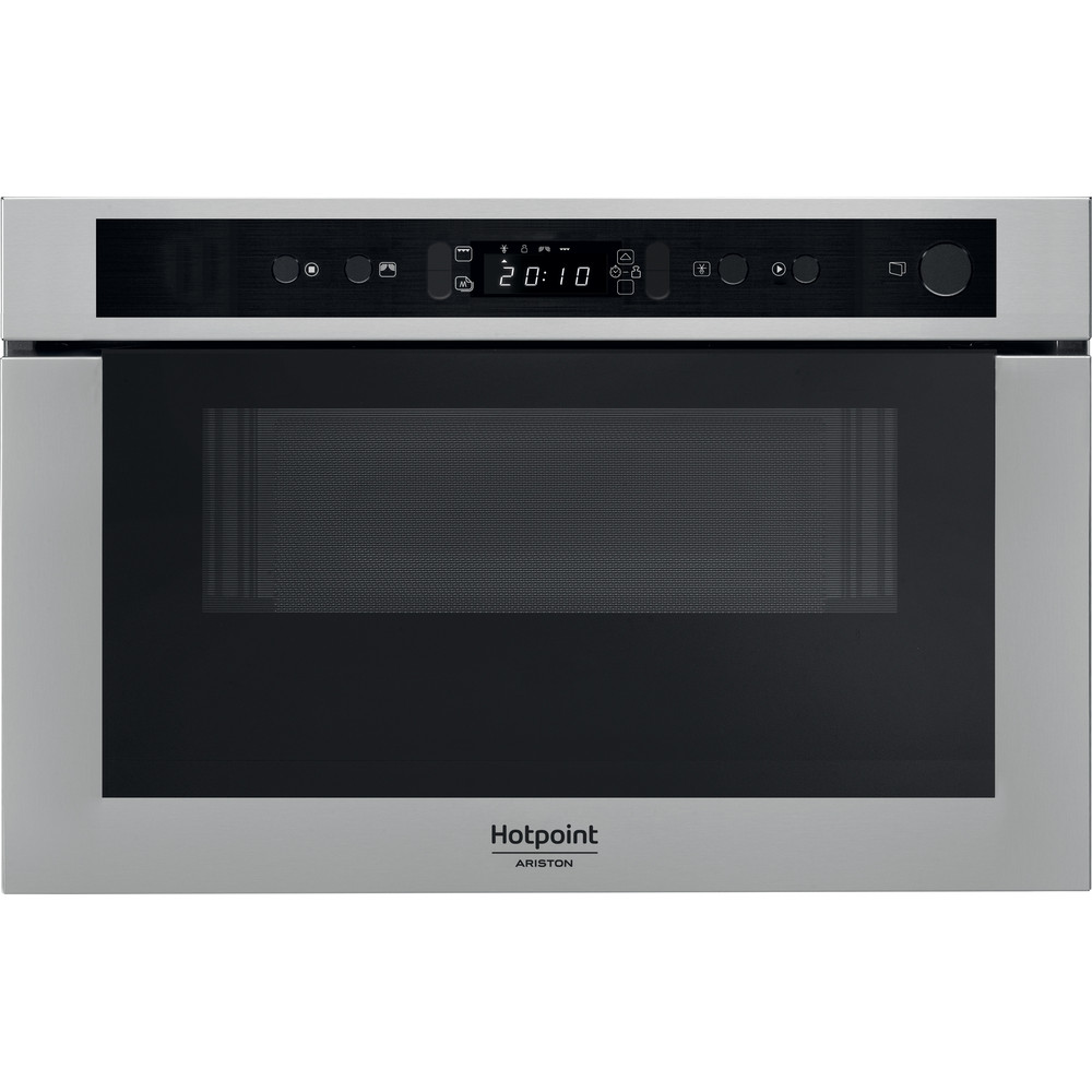 Hotpoint_Ariston Four micro-ondes Encastrable MN 413 IX HA Acier inoxydable Electronique 22 Micro-ondes + gril 750 Frontal
