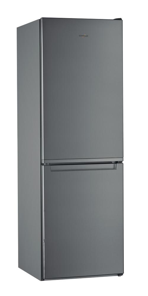 Whirlpool Combiné réfrigérateur congélateur Pose-libre W5 711E OX Optic Inox 2 portes Perspective