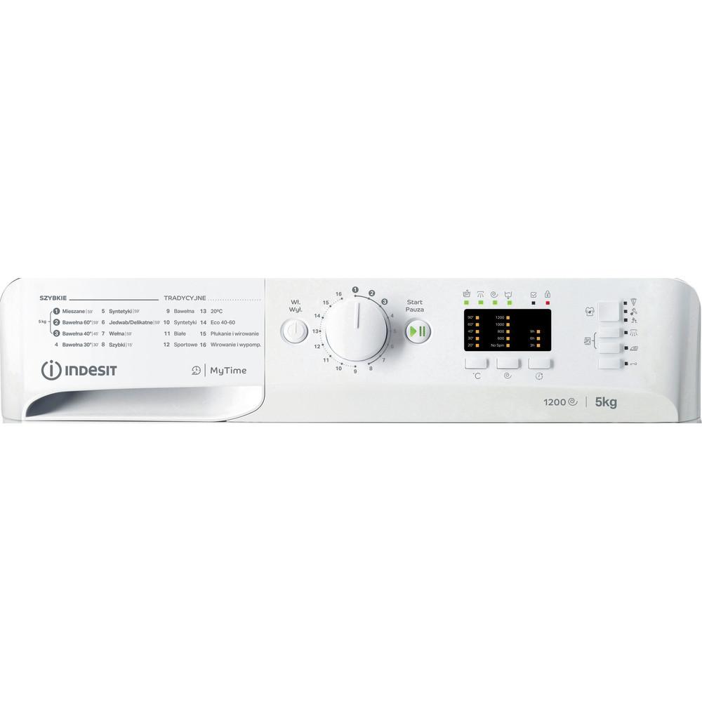 Indesit Pralka Wolnostojące MTWSA 51252 WS PL Biel Ładowany od frontu F Control panel