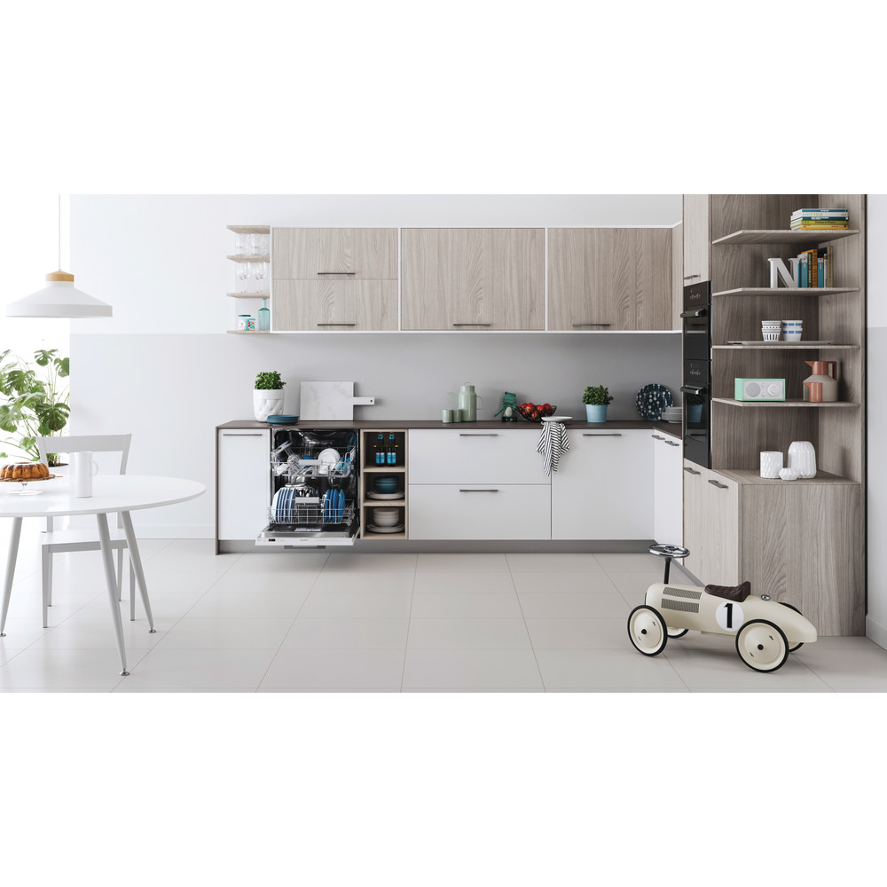 Indesit Dishwasher Built-in DIC 3B+16 UK Full-integrated F Lifestyle frontal open