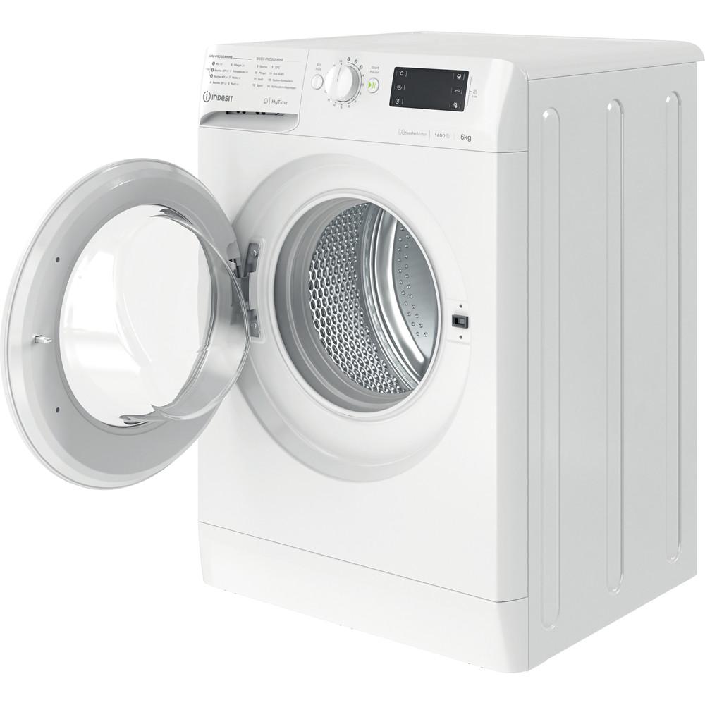 Indesit Waschmaschine Freistehend MTWE 61483E W DE Weiß Frontlader D Perspective open