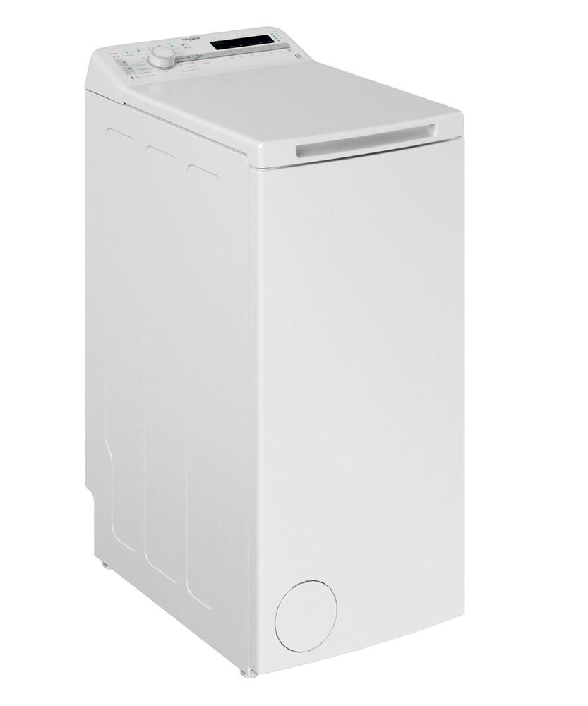 Whirlpool Перална машина Свободностоящи TDLR 6030S EU/N Бял Модел с горно зареждане D Perspective