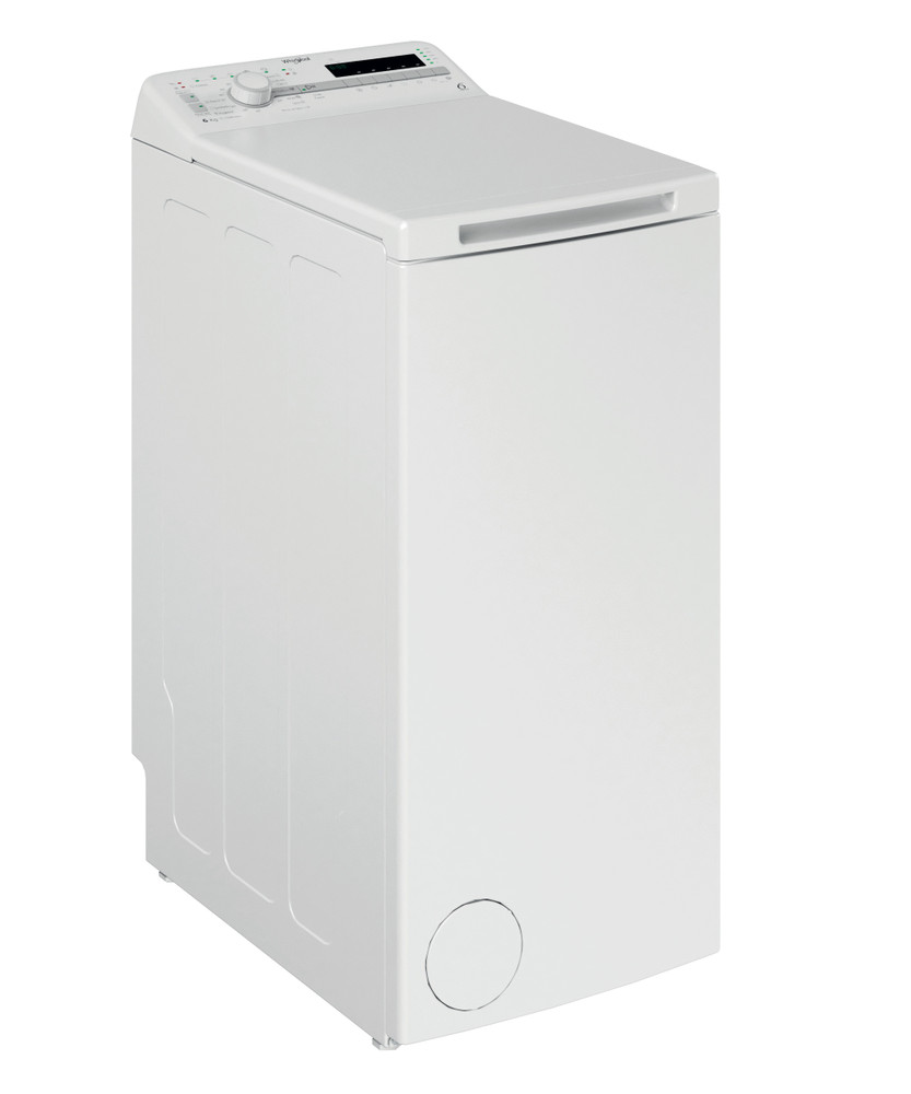 Whirlpool Maşină de spălat rufe De sine statator TDLR 6030S EU/N Alb Încărcare Verticală D Perspective