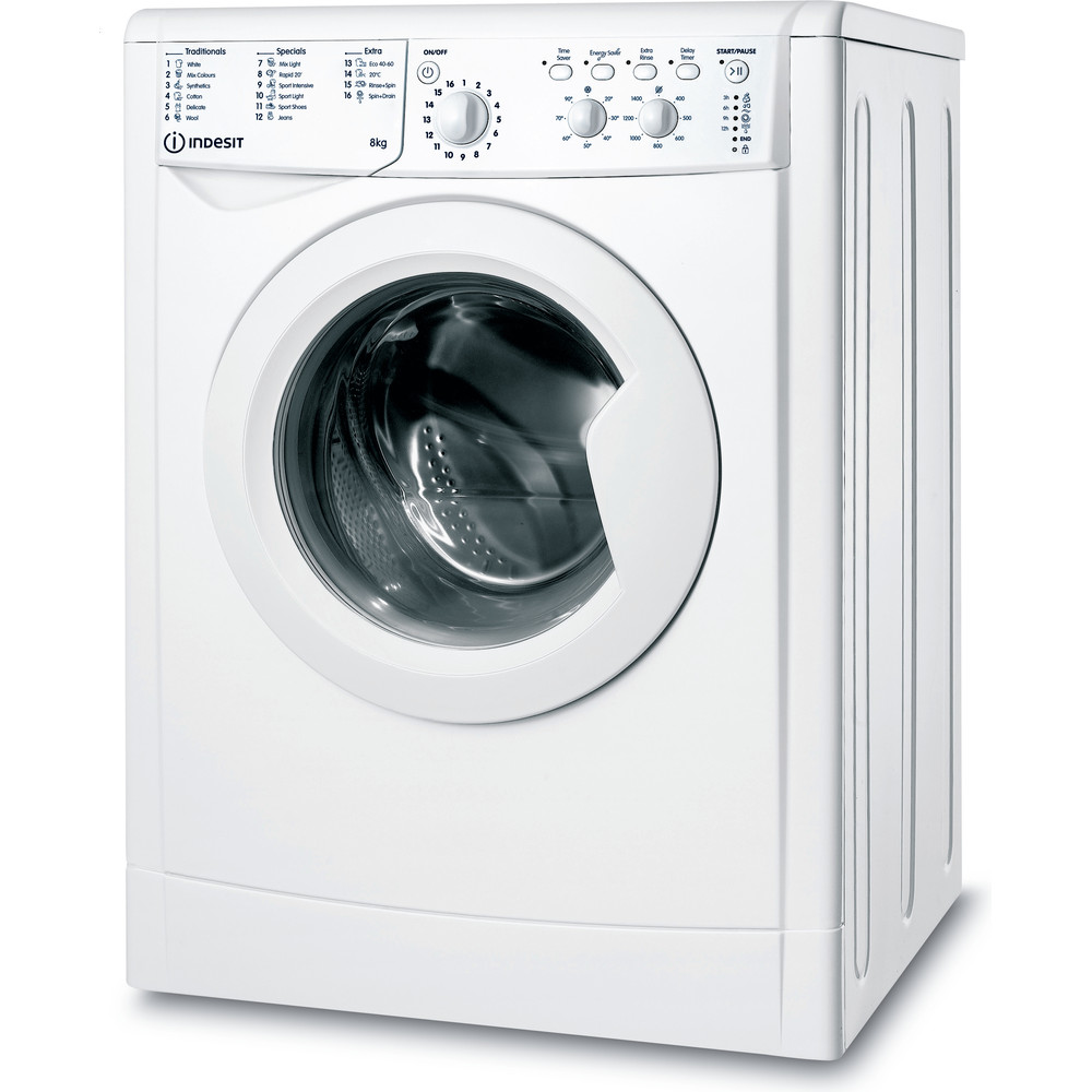 Indesit Washing machine Free-standing IWC 81483 W UK N White Front loader A+++ Perspective