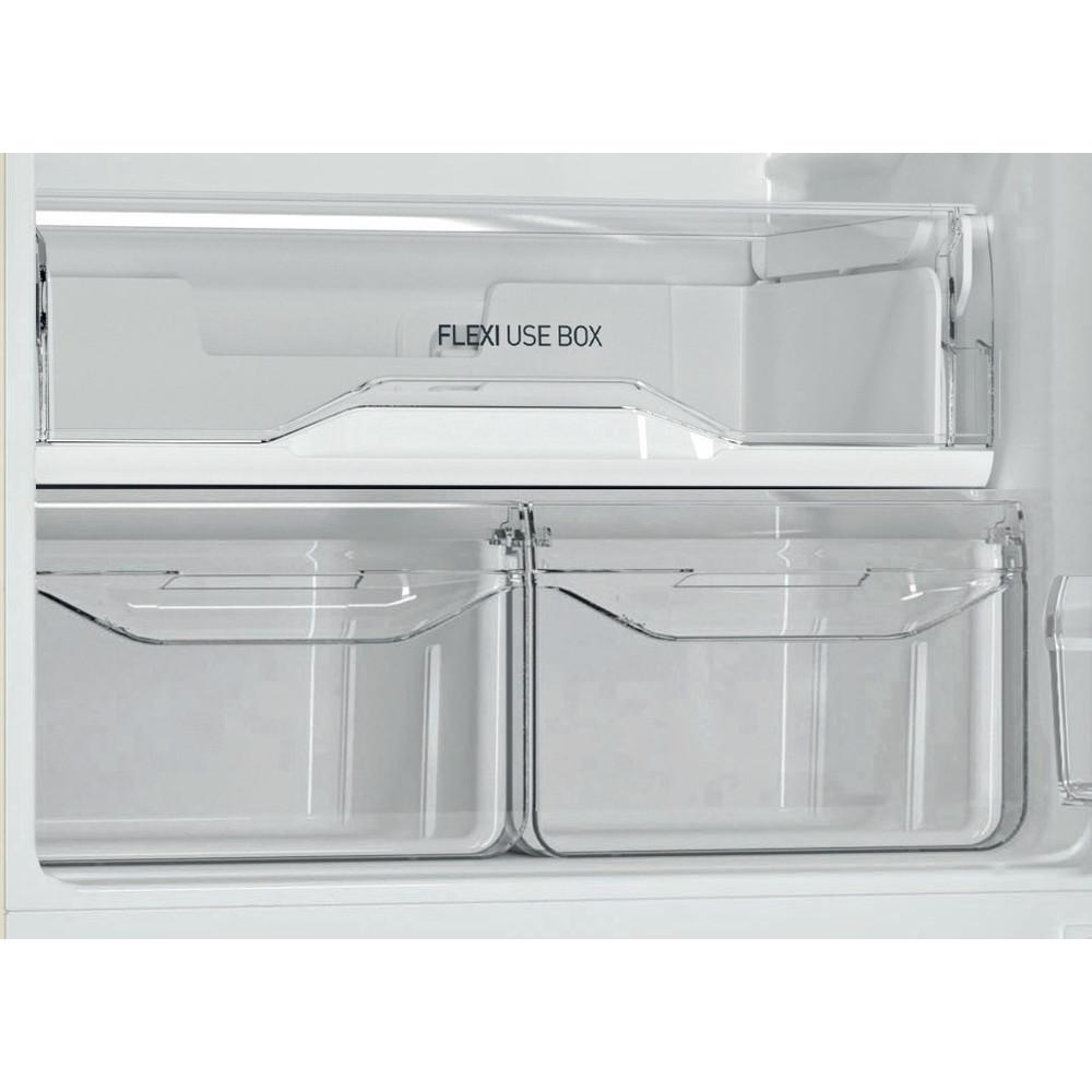 Indesit Холодильник с морозильной камерой Отдельностоящий DS 4180 E Розово-белый 2 doors Drawer