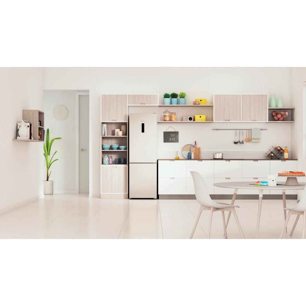 Indesit Холодильник с морозильной камерой Отдельностоящий ITR 5180 E Розово-белый 2 doors Lifestyle frontal