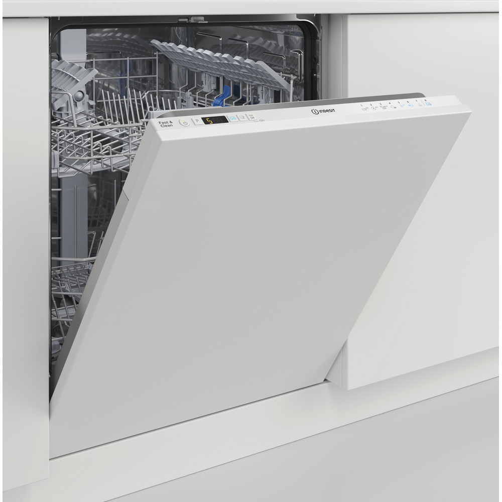 Indesit Vaatwasser Inbouw DIC 3C24 A Volledig geïntegreerd E Lifestyle perspective open