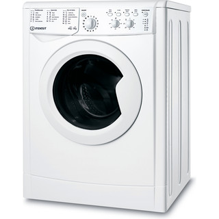 Indesit Washer dryer Free-standing IWDC 65125 UK N White Front loader Perspective