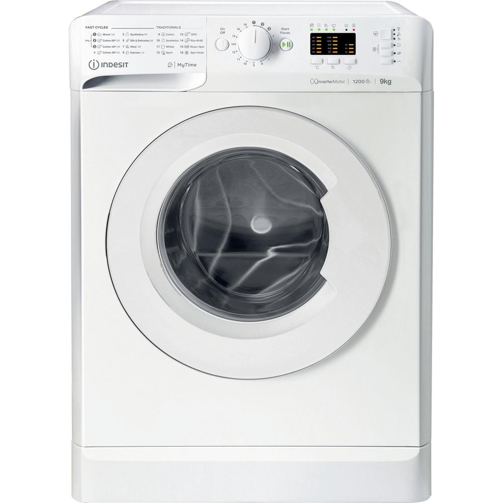 Indsit Maşină de spălat rufe Independent MTWA 91283 W EE Alb Încărcare frontală D Frontal