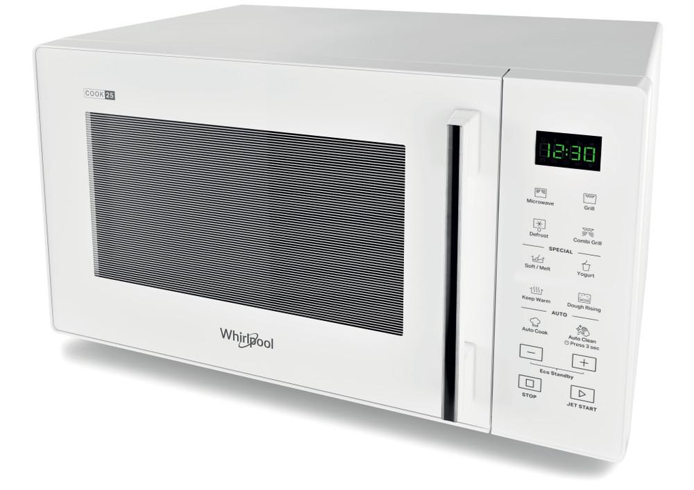 Whirlpool Mikroaaltouuni Vapaasti sijoitettava MWP 253 W Valkoinen Elektroninen 25 Mikroaaltoyhdistelmäuuni 900 Perspective