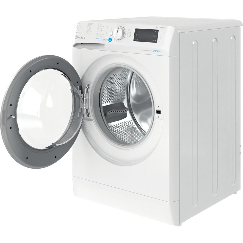 Indesit Máquina de lavar roupa Livre Instalação BWE 101483X WS SPT N Branco Carga Frontal D Perspective open