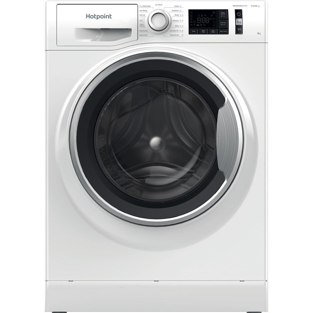 Hotpoint Washing machine Free-standing NM11 945 WS A UK N White Front loader B Frontal