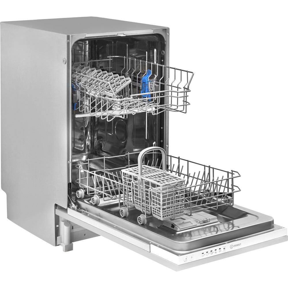 Indesit Mašina za pranje posuđa ugradbeni DSIE 2B10 A scomparsa totale A+ Perspective open