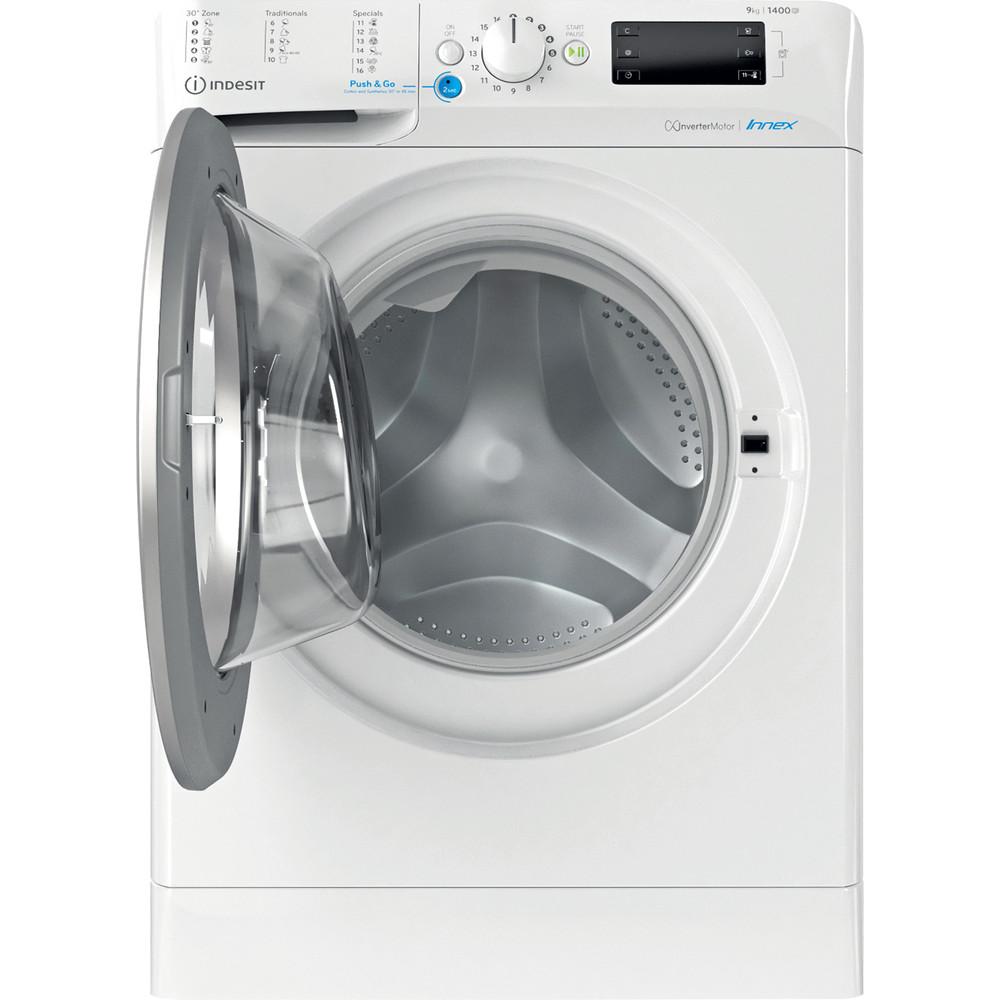 Indesit Vaskemaskine Fritstående BWE 91484X WS EU N Hvid Frontbetjent C Frontal open