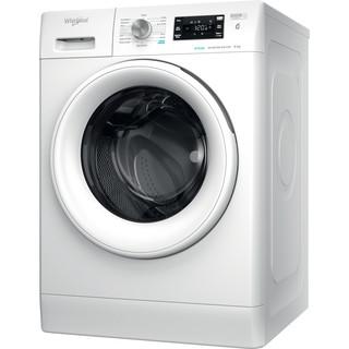 Whirlpool Washing machine Free-standing FFB 8458 WV UK N White Front loader B Perspective