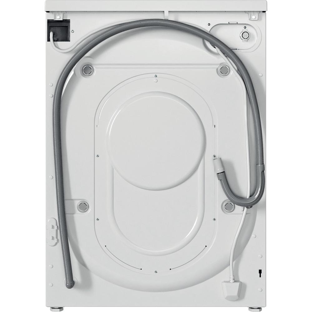 Indesit Kombineret vaskemaskine/tørretumbler Fritstående EWDE 761483 WS EE N Hvid Frontbetjent Back / Lateral