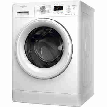 Whirlpool Maşină de spălat rufe Independent FFL 7238 W EE Alb Încărcare frontală D Perspective