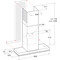Whirlpool Liesituuletin Kalusteisiin sijoitettava WHSS 90F L T C K Musta Wall-mounted Elektroninen Frontal