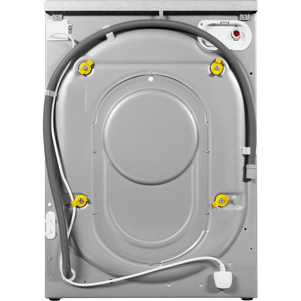 Indesit Washer dryer Free-standing IWDC 6125 S (UK) Silver Front loader Back_Lateral