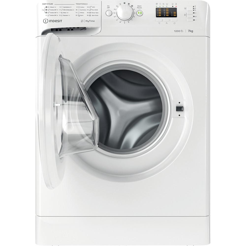 Indsit Maşină de spălat rufe Independent MTWA 71252 W EE Alb Încărcare frontală E Frontal open