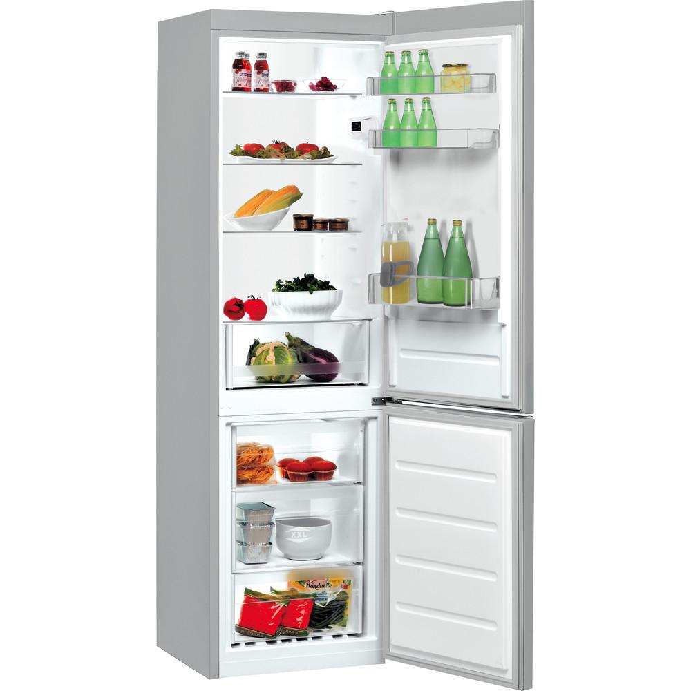 Indesit Kombinacija hladnjaka/zamrzivača Samostojeći LI8 S2E X Inox 2 doors Perspective open