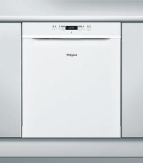 Whirlpool-opvaskemaskine: hvid farve, fuld størrelse - WUO 3O33 DL