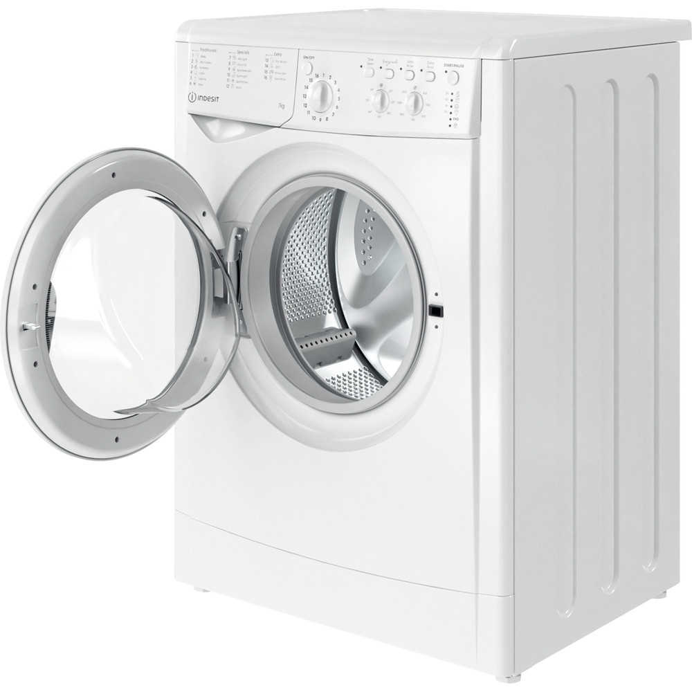 Indesit Washing machine Free-standing IWC 71252 W UK N White Front loader E Perspective open