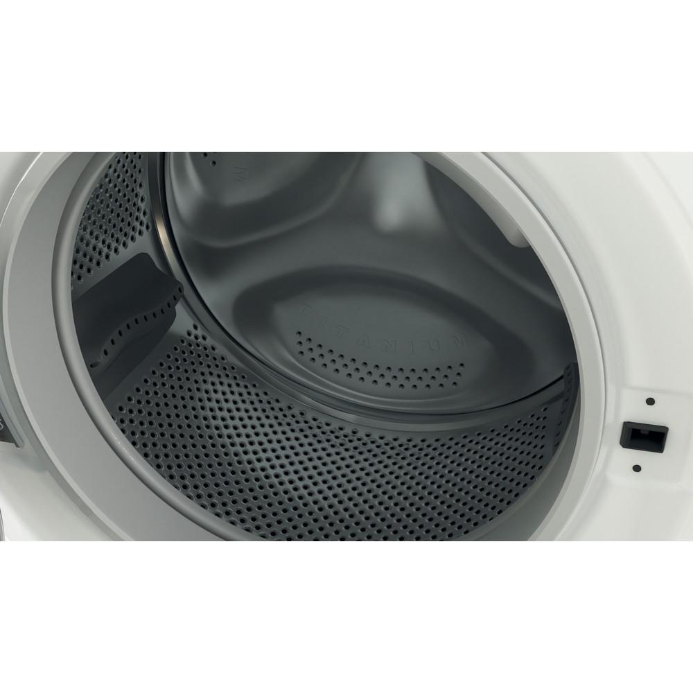 Indesit Kombineret vaskemaskine/tørretumbler Fritstående BDE 1071482X WK EU N Hvid Frontbetjent Drum