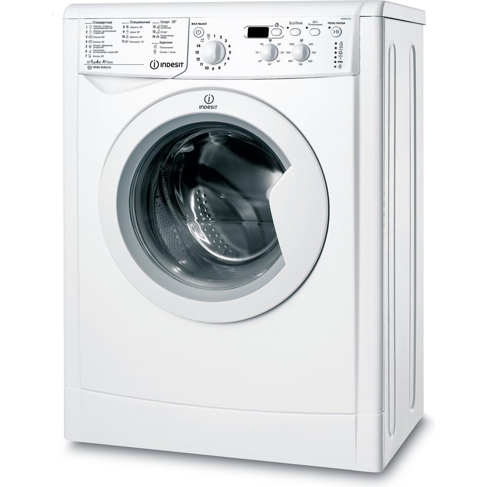 Indesit Стиральная машина Отдельно стоящий IWSD 61051 B UA Белый Front loader A+ Perspective