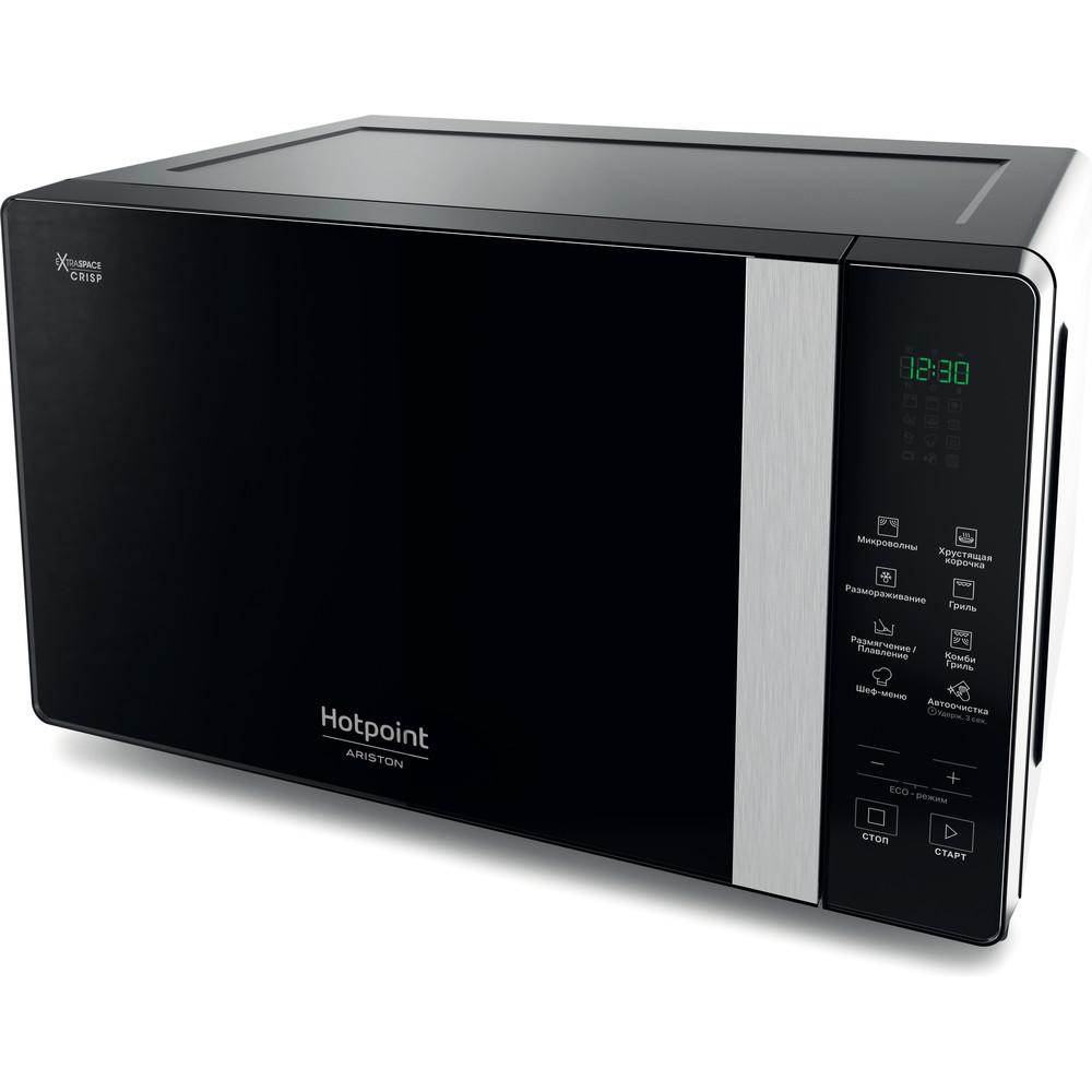 Hotpoint_Ariston Микроволновая печь Отдельностоящий MWHAF 206 B Черный Электронное 20 Микроволновая печь с функцией гриля 800 Perspective