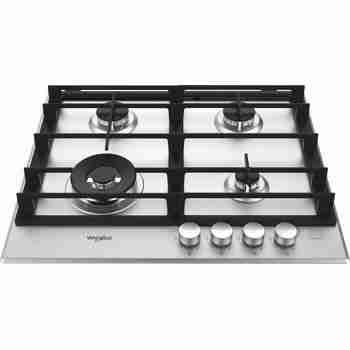 Whirlpool Table de cuisson GMW 6422/IXL FR Inox Ixelium Gaz Frontal top down