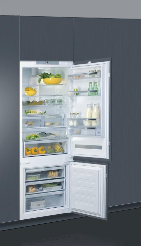 Whirlpool Jääkaappipakastin Kalusteisiin sijoitettava SP40 802 2 Valkoinen 2 doors Perspective open