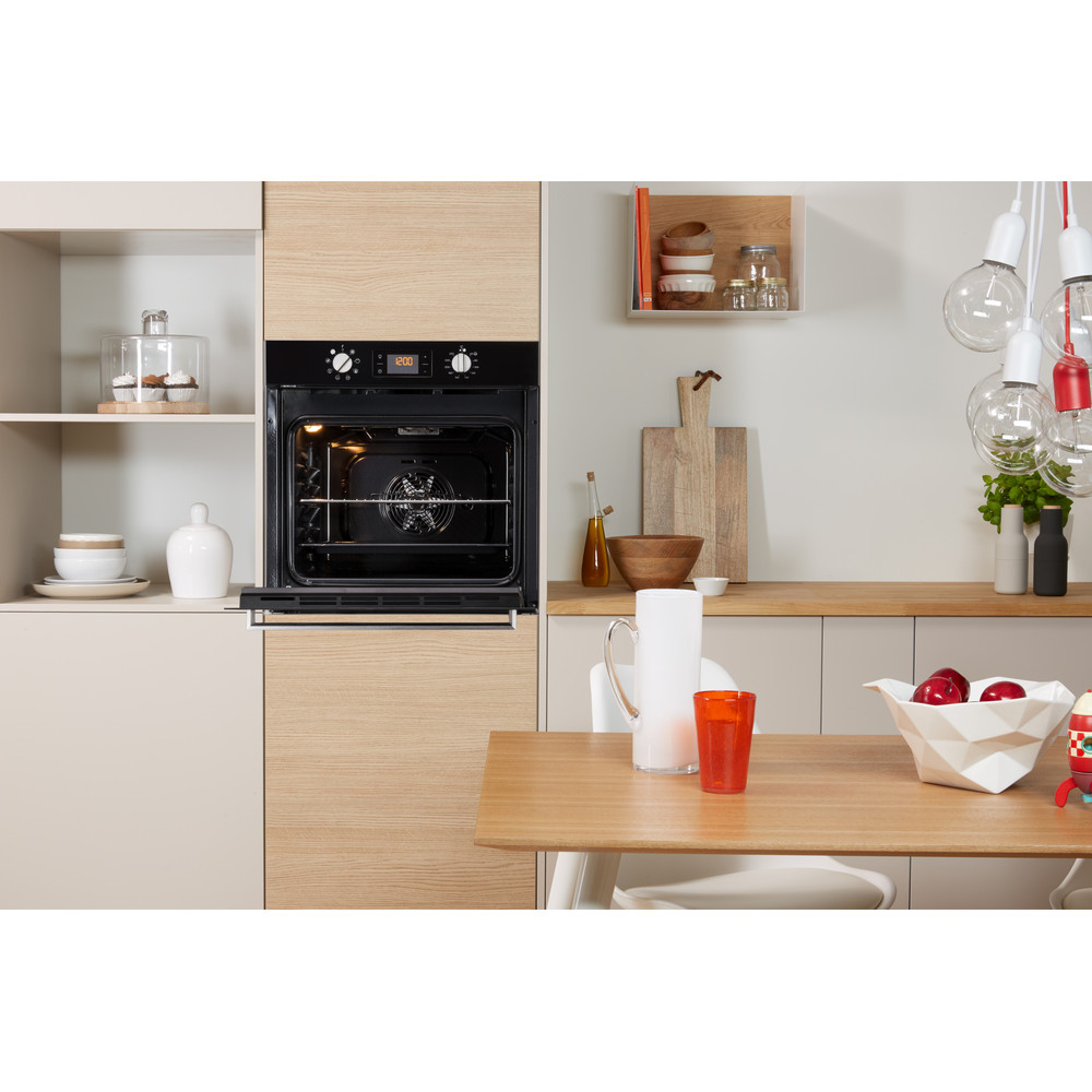 Indesit OVEN Built-in IFW 6340 BL UK Electric A Lifestyle frontal open
