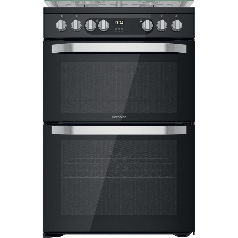 Hotpoint Double Cooker HDM67G9C2CB/UK Black A Frontal