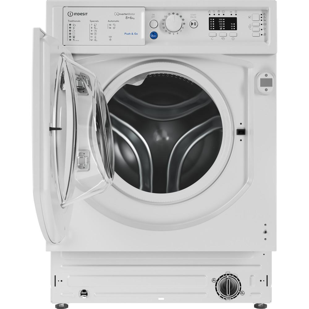 Indesit Máquina de lavar e secar roupa Encastre BI WDIL 861284 EU Branco Carga Frontal Frontal