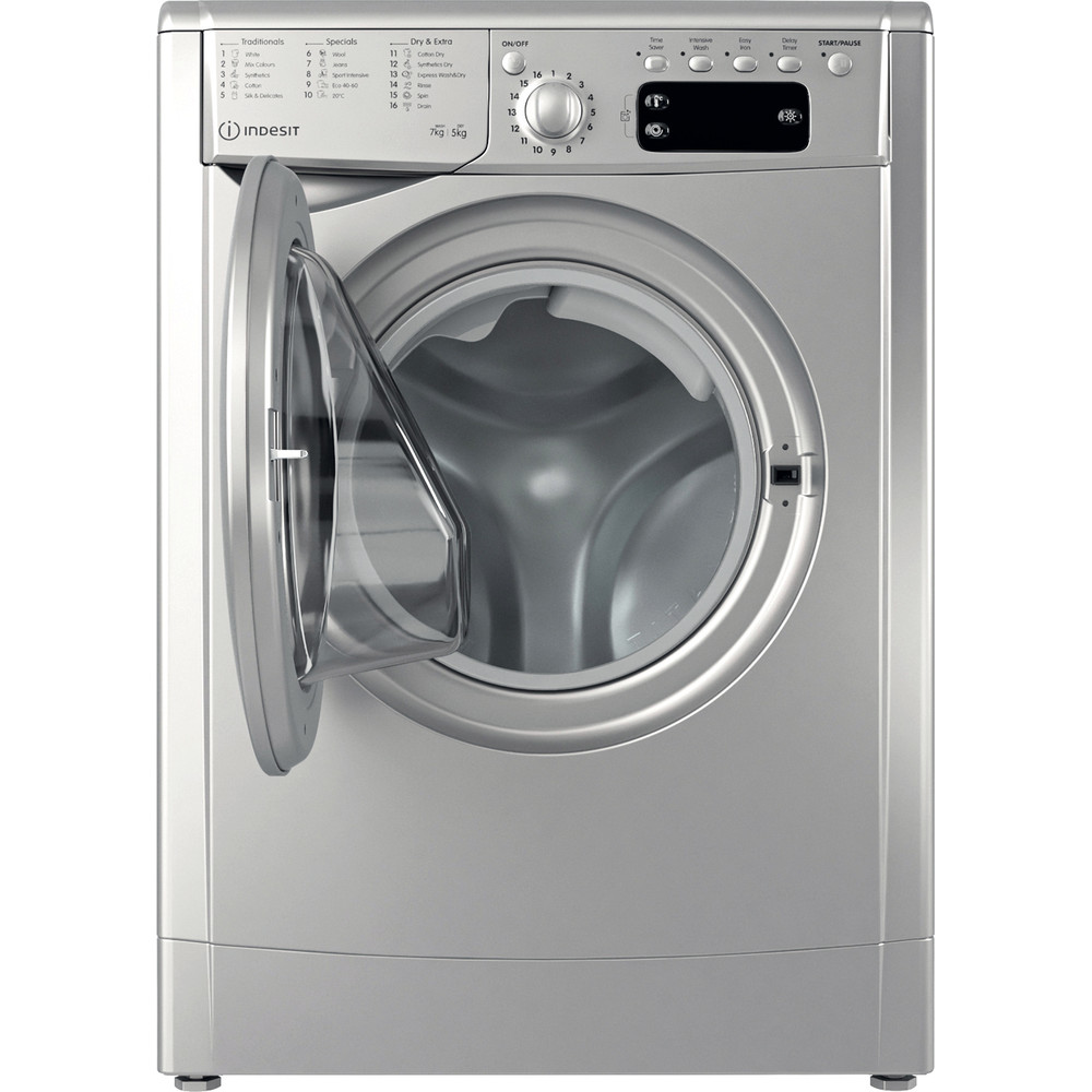 Indesit Washer dryer Free-standing IWDD 75145 S UK N Silver Front loader Frontal open