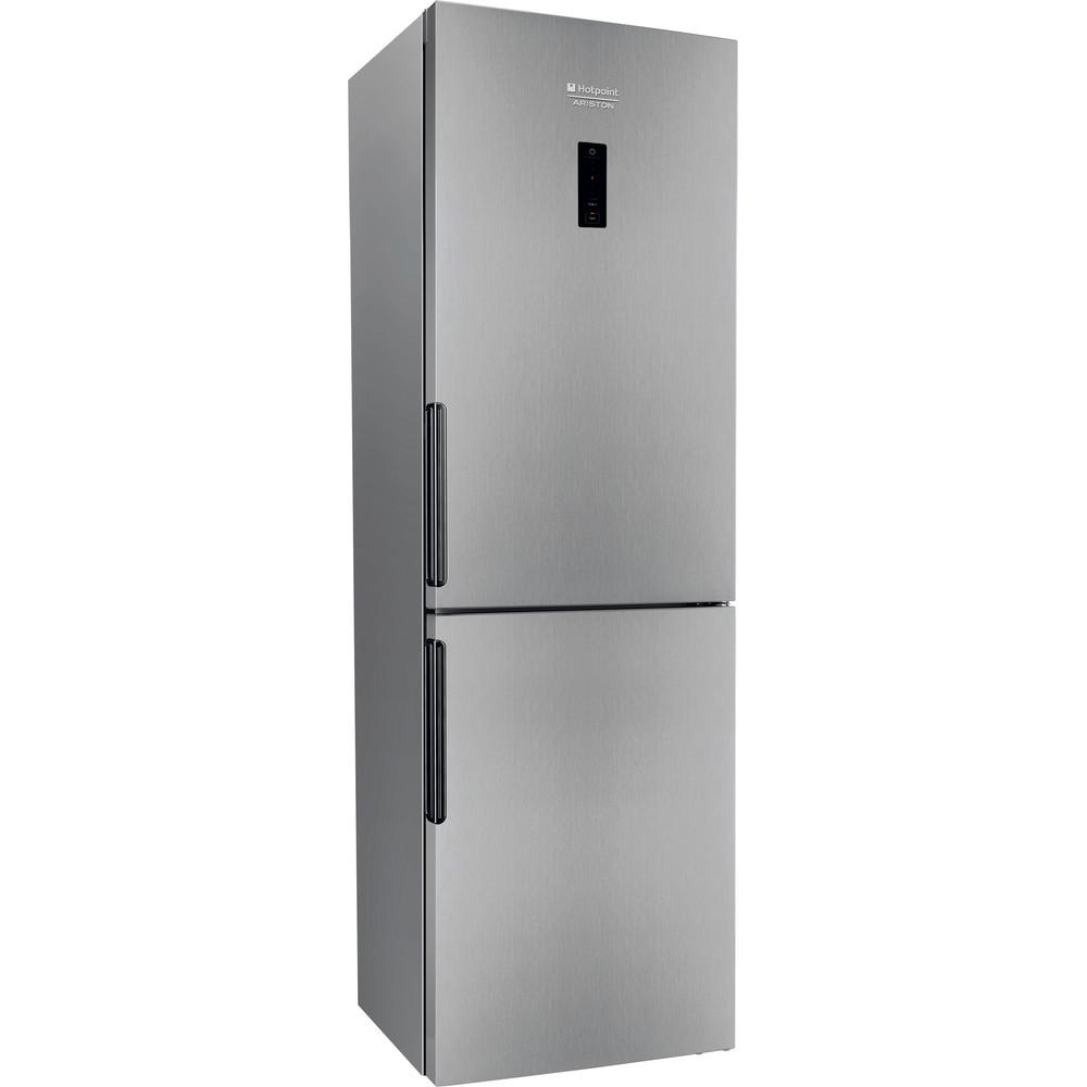 Hotpoint_Ariston Комбиниран хладилник с фризер Свободностоящ XH8 T1O X Инокс 2 врати Perspective