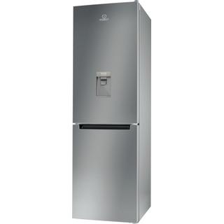 Indesit Kombinacija hladnjaka/zamrzivača Samostojeći LI8 S1E S AQUA Srebrna 2 doors Perspective