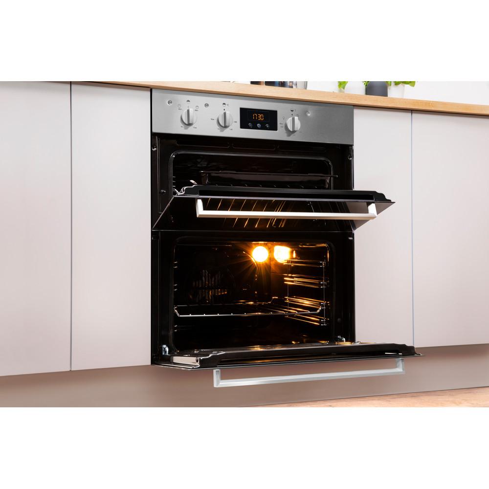 Indesit Double oven IDU 6340 IX Inox B Lifestyle perspective open