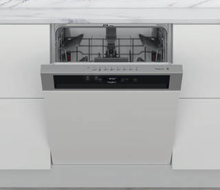 Whirlpool teilintegrierte Geschirrspüler: Farbe Edelstahl., Full Size. - WKBC 3C34 P X