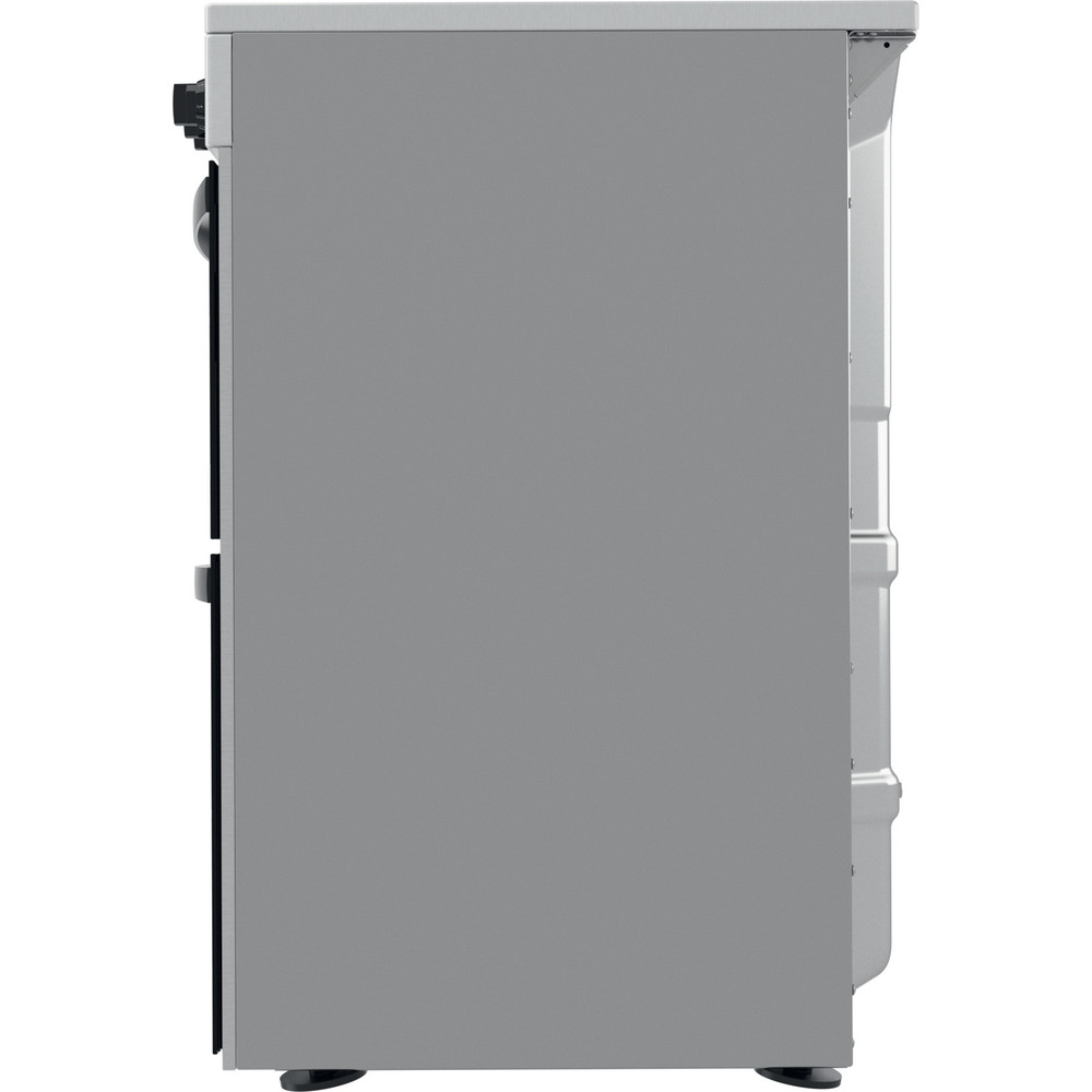Indesit Double Cooker ID67V9HCCX/UK Inox A Back / Lateral