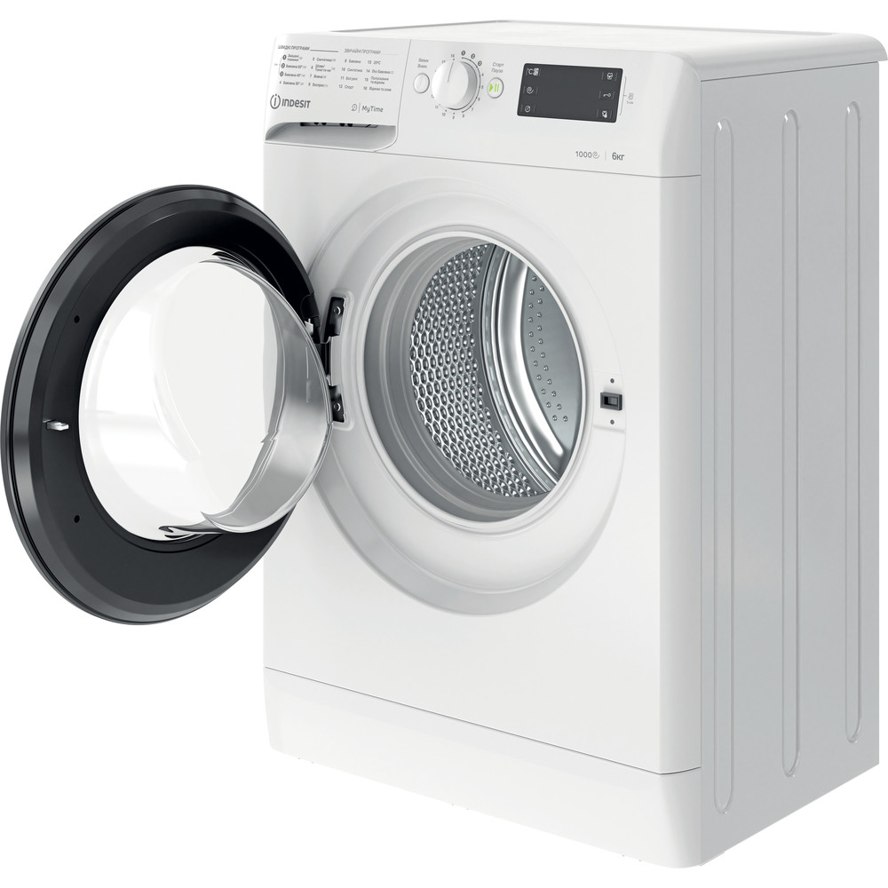 Indesit Пральна машина Соло OMTWSE 61051 WK UA Білий Front loader A+++ Perspective open