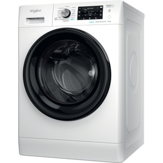 Whirlpool Veļas mazgājamā mašīna Brīvi stāvošs FFD 9458 BV EE Balta Priekšējās ielādes B Perspective