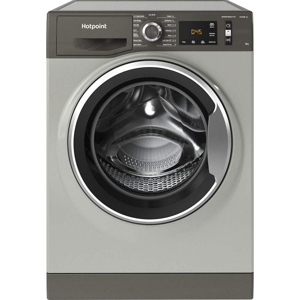 Hotpoint Washing machine Free-standing NM11 945 GC A UK N Graphite Front loader B Frontal
