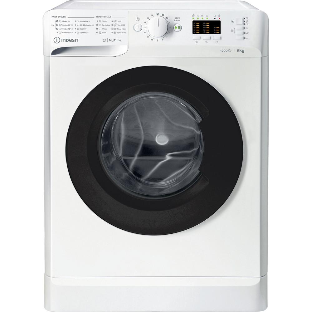 Indsit Maşină de spălat rufe Independent MTWSA 61252 WK EE Alb Încărcare frontală A +++ Frontal