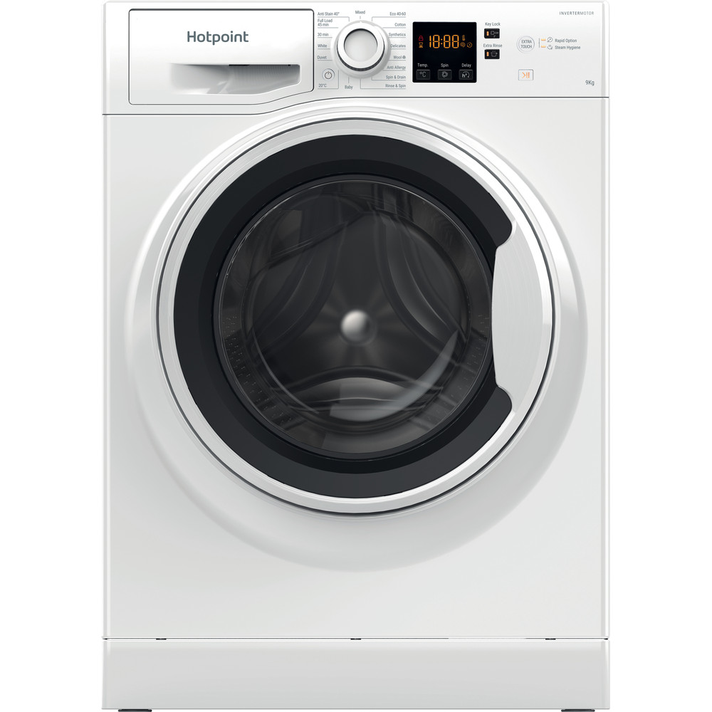 Hotpoint Washing machine Free-standing NSWA 943C WW UK N White Front loader D Frontal
